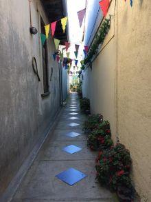 Walkway in the hostel